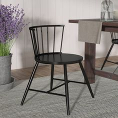 Shop a great selection of Vecchia Dining Chair (Set Mistana. Find new offer and Similar products for Vecchia Dining Chair (Set Mistana. Farmhouse Dining Set, Chair, Wood Side Chair, Chair Set, Round Back Dining Chairs, Black Metal Dining Chairs, White Dining Chairs, Wood Dining Table, Dining