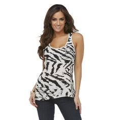Get the new Kardashian Kollection Women's Racerback Tank Top in Tiger Stripes today at Sears!