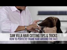 ▶ How To Perfectly Frame Hair Around The Face - YouTube