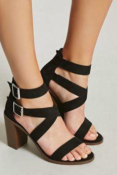fbabac26b7b Forever 21. Strappy Block Heel SandalsT Strap ...