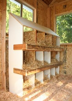 BackYard Chickens coops and nesting boxes
