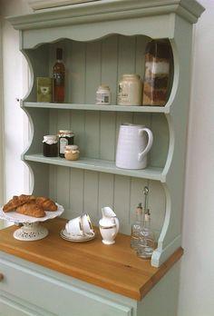 Kitchen Dresser - Moonstone Grey  mix a painted dresser in a white kitchen
