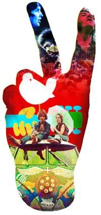 Sign of togetherness and icon of entire generation. Peace Sign, Woodstock '69