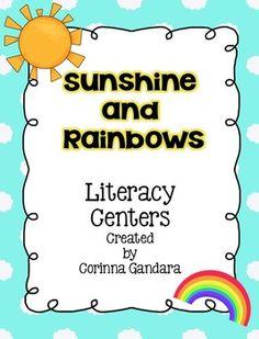 Sunshine and Rainbows Literacy Centers