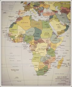 A Map Of Africa Africa Map Projects To Try Pinterest Africa