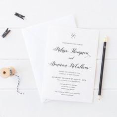 Classically beautiful black and white wedding invitations. Monogram Invitation. Peach Perfect Australia. #wedding #blush #blackandwhite #invitation #monogram #paperporn #peachperfect