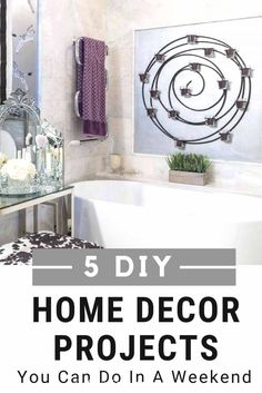 Looking for something to do at home? You can totally makeover a room in a weekend with these easy DIY home decor projects. Beautify your home and keep from being bored at home. #fromhousetohome #homedecor #diy #diydecorating  #diyhomedecorideas*