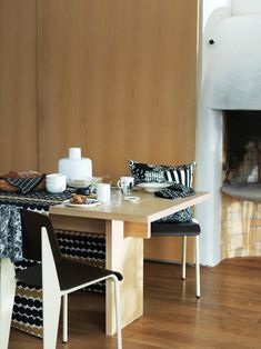 Marimekko fabrics - Buy online from Finnish Design Shop. Discover Unikko and other Marimekko fabrics for a modern home! Helsinki, Nordic Design, Modern Design, Marimekko Fabric, Kartell, Decoration, Dining Table, Dining Room, Kitchen Tables