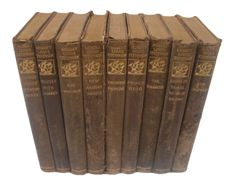 The Biographical Leather Edition of the Works of Robert Louis Stevenson - Set of 9 on Chairish.com
