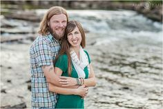 Engagement photo in front of the South Platte River at Confluence and Commons Park in Denver Colorado. - April O'Hare Photography http://www.apriloharephotography.com #DenverEngagementPhoto #DenverPhotographer #CommonsPark #ConfluencePark