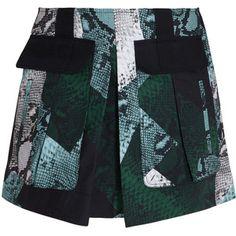 PROENZA SCHOULER Snake Print Cotton Skirt
