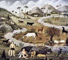 [EndLiss scans - Wildlife Art] Martha Cahoon - Garden of Eden