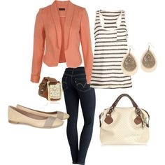 stripes and peach