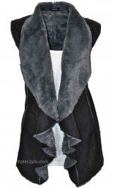 Fantazia Clothing Bonnie Vest In Black