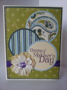 Hand Stamped Mother's Day Card.