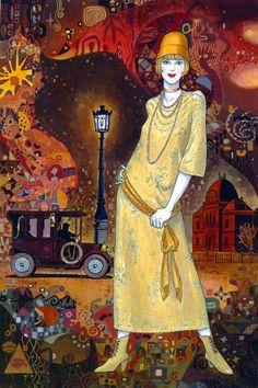 Helena Lam Art Deco Woman