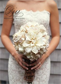 DIY Wedding Flowers : DIY Hydrangea And Mum Bouquet