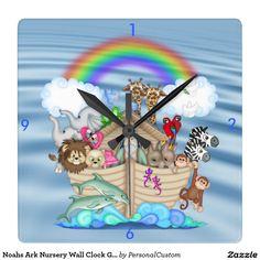 Noahs Ark Nursery Wall Clock Gift For BaBY