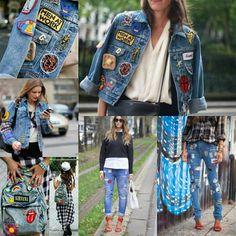 Customizando jeans com patches