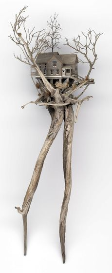 Home page of Artist Neal Personeus Wood Animals, Wood Sculpture, Sculptures, Architectural Sculpture, Driftwood Crafts, Paperclay, Wood Creations, Miniature Houses, Bird Houses