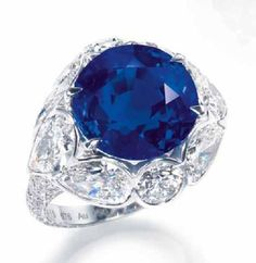 A RARE SAPPHIRE AND DIAMOND RING, BY DAVID MORRIS 2
