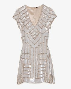 Parker Serena Sequined Cap Sleeve Dress