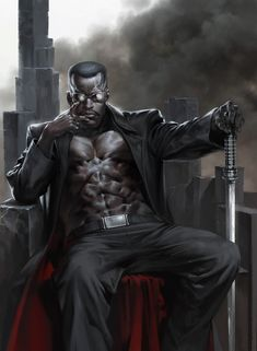 Marvel Comic Book Artwork • Blade by Jung-Guen Yoon. Follow us for more awesome comic art, or check out our online store www.7ate9comics.