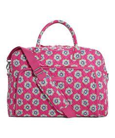 Another great find on #zulily! Pink Swirls Flowers Weekender Bag #zulilyfinds