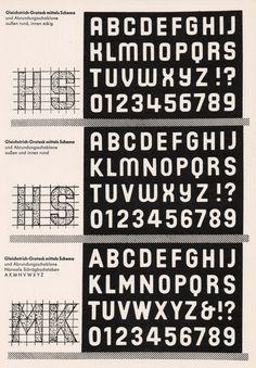 """Schrift"" by Ernst Bentele, Graffiti Lettering, Typography Letters, Hand Lettering, Font Design, Typography Design, Type Design, Painted Letters, Hand Painted Signs, Alphabet Letter Templates"