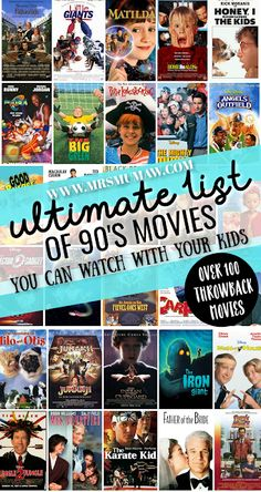 The Ultimate 90's Family Movie List - 90's Movies for Kids