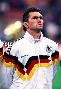 FIFA World Cup - Italia 1990<br /> Stadio Delle Alpi, Turin, Italy.<br /> Semifinal England v West Germany.<br /> Klaus Augenthaler - West Germany