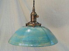Lighting, Pendant Lights, hanging light, light fixture, ceiling light,pottery, Restaurant lighting, Custom lighting, lamp, Ships FREE in USA