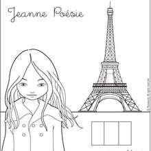 paris word coloring pages - photo#8