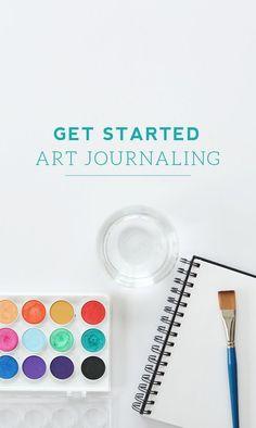 'Get Started Art Journaling...!' (via green-fingerprint.com)