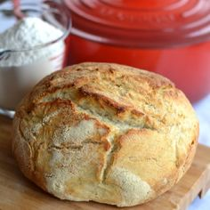 A simple recipe for French sourdough bread baked in a covered cast-iron pot. The method is different; the results are amazing!