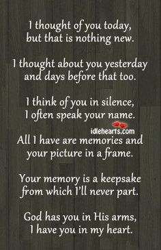 This poem framed with pictures of family members/friends who have passed away. | best stuff