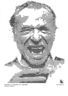Analog ASCII-Portraits of Writers