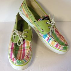 8c9e1f800b5 Shop Women s Sperry Top-Sider Pink Green size 9 Flats   Loafers at a  discounted price at Poshmark.