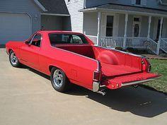 1967 Chevrolet El Camino Custom 67 El Camino, red, custom