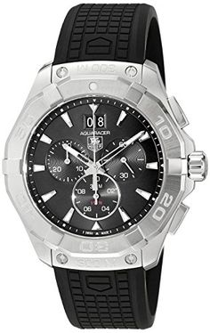 cc279dfa735 Men s Wrist Watches - TAG Heuer Mens Swiss Quartz Stainless Steel and  Rubber Casual Watch ColorBlack