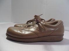 SAS Women's Tri-Pad Shoes Comfort Oxford Nursing Uniform-Beige- USA MADE 8 1/2 #SAS #Oxfords