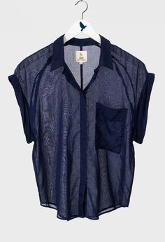 The MiH Jeans Jetset Shirt in Navy blue.