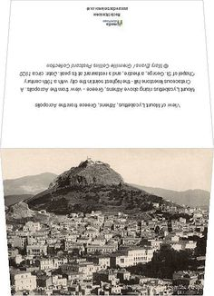 Greetings Card-View of Mount Lycabettus, Athens, Greece from the Acropolis-Photo Greetings Card made in the USA Acropolis, Athens Greece, Online Images, Heritage Site, Wonderful Images, Photo Greeting Cards, Photo Mugs, 19th Century, Online Printing