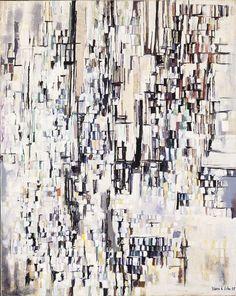 """""""The Town"""" - Maria Elena Vieira da Silva, 1955 Modern Art, Contemporary Art, Street Art, A Level Art, Painting Process, Painting Art, Art Moderne, Art Abstrait, Mark Making"""