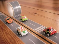 Road Themed Tape and Toy Car- My First Autobahn