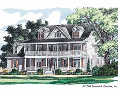 Eplans Country House Plan - A Modern Twist on Plantation Architecture - 3356 Square Feet and 4 Bedrooms from Eplans - House Plan Code HWEPL12568