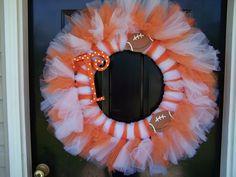 Halloween Tutu Wreath. OR Tennessee tutu wreath :)