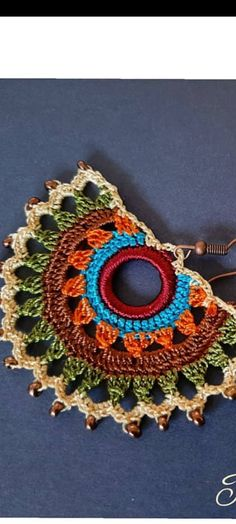 Best Picture For crochet accessories organizer For Your Taste You are looking for something, and it is going to tell you exactly what you are looking for, and you didn't. Crochet Necklace Pattern, Crochet Jewelry Patterns, Crochet Bracelet, Crochet Accessories, Bead Crafts, Jewelry Crafts, Crochet Toys, Knit Crochet, Bijoux Diy