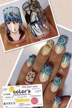 Wai! Gintama nail art!