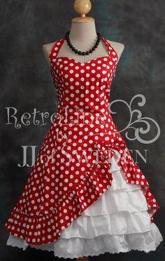 Gothic Victorian Inspired. Asymmetric Designed handmade halter frill dress. M / L. $69.00, via Etsy.